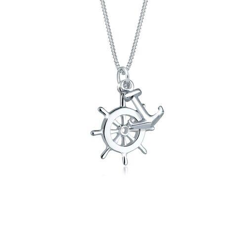 Elli Collierkettchen »Steuerrad Anker Maritim 925 Sterling Silber«
