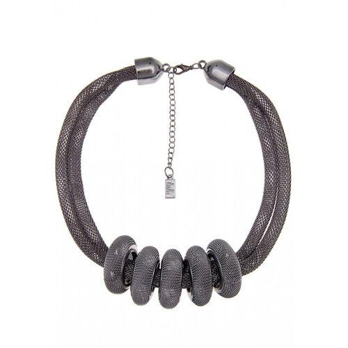 leslii Halskette im ausgefallenen Netz-Ringen, schwarz