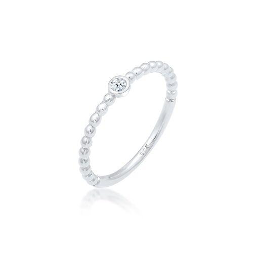 Elli Diamantring »Verlobung Geo Kugeln Diamant (0.03ct) 925er Silber«