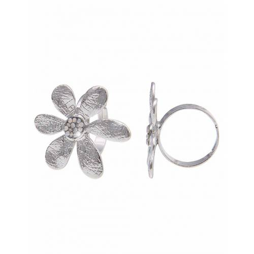 leslii Modeschmuck-Ring, silber-weiß