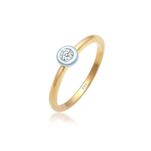 Diamore Diamantring »Diamant (0.03 ct) Verlobung Bi-Color 585 Gold«