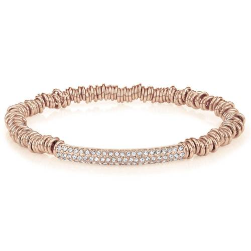 Buckley London Armband »Messing rosegold Kristall Stretchband«, rot