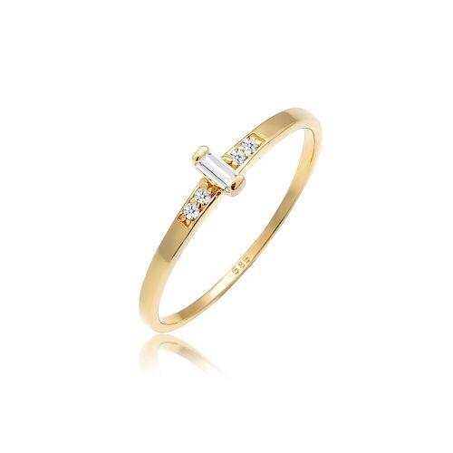 Diamore Diamantring »Verlobung Topas Diamant (0.04 ct) 585 Gelbgold«