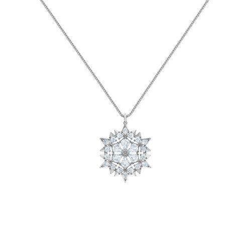 Swarovski Kette mit Anhänger »MAGIC ANHAENGER SNOW, 5498960«, mit ® Kristallen