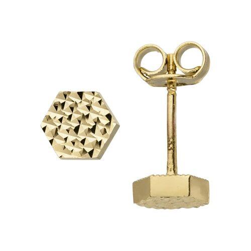 Jobo Paar Ohrstecker »Sechseck«, 333 Gold