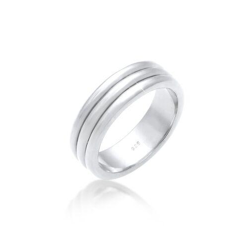 Elli Fingerring »Paarring Drei Ringe Trauring Hochzeit 925 Silber«, silberfarben