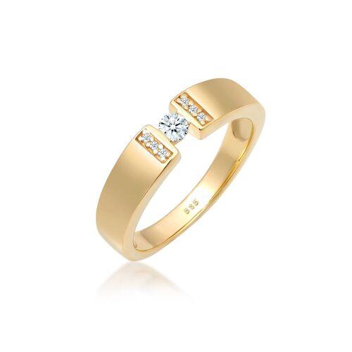 Diamore Diamantring »Verlobung Diamant 0.16 ct. 585 Gelbgold«