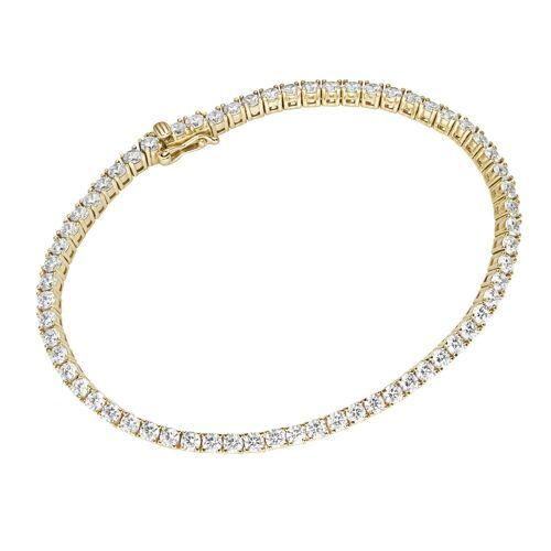 Luigi Merano Tennisarmband »Tennisarmband mit Zirkonia, Gold 375«