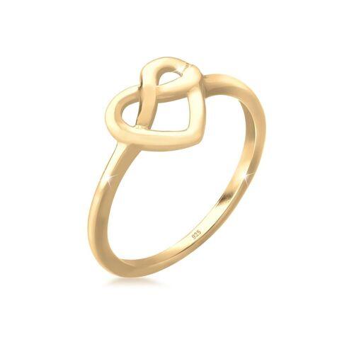 Elli Fingerring »Wiesn Brezel Herz Knoten Trend 925 Sterling Silber«, Brezel