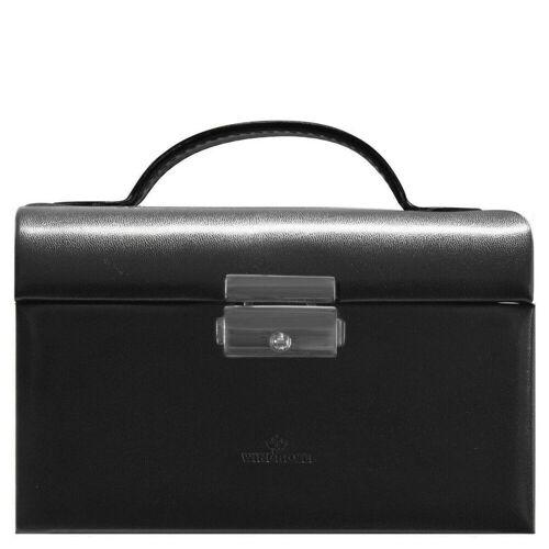 Windrose Schmuckkoffer »Merino Moda Schmuckkoffer klein 15 cm« (1-tlg), schwarz pink
