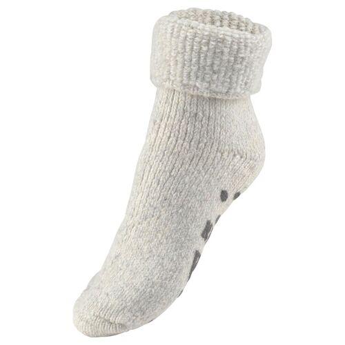 Sympatico ABS-Socken (1 Paar) aus Strick mit rutschfester Sohle, grau