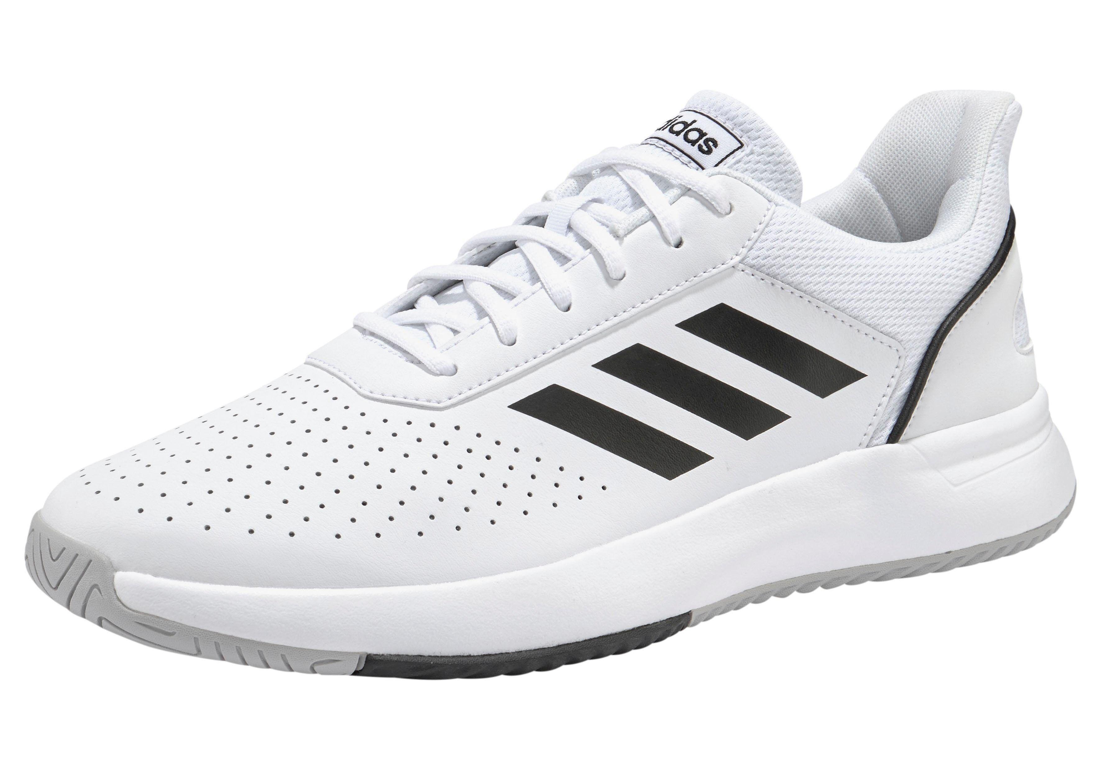 Adidas »Courtsmash« Walkingschuh, weiß-schwarz