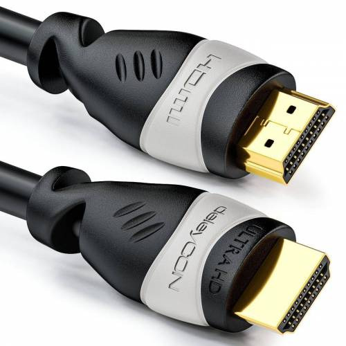 deleyCON »2m HDMI Kabel UHD 4K HDR 3D 1080p 2160p ARC TV LED Beamer OLED PC Grau« HDMI-Kabel