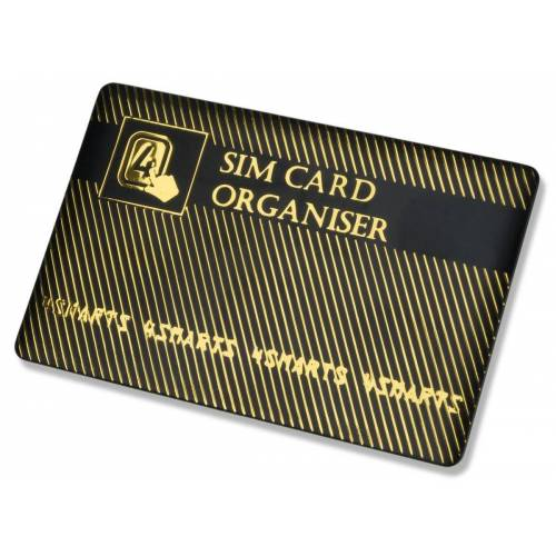 4smarts Zubehör »SIM Karten Organizer«, Schwarz-Gold