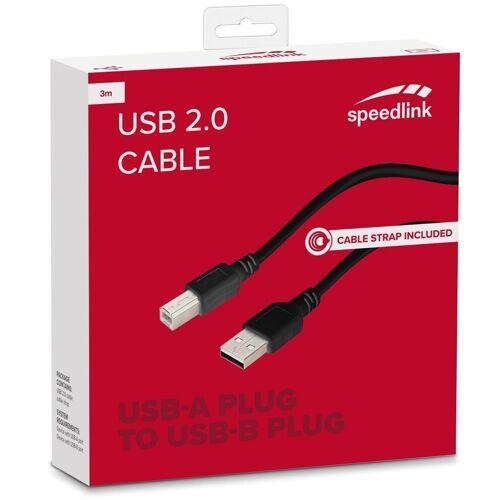 Speedlink »HQ 3m USB 2.0 USB-Kabel Typ A-B Stecker Anschluss-Kabel Drucker-Kabel für Drucker Scanner Hub HDD etc« USB-Kabel, USB Typ A, USB Typ B, (300 cm), Universal, Datenkabel, Druckerkabel