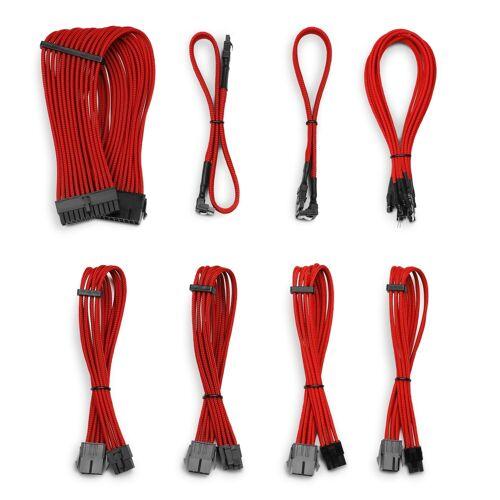 CSL »Kabel Sleeve Set« Computer-Kabel, SATA, (30 cm), rot