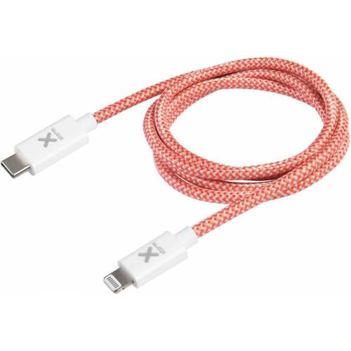 Xtorm Adapter »Red USB-C Lightning cable (1 m)«, Rot-Weiß
