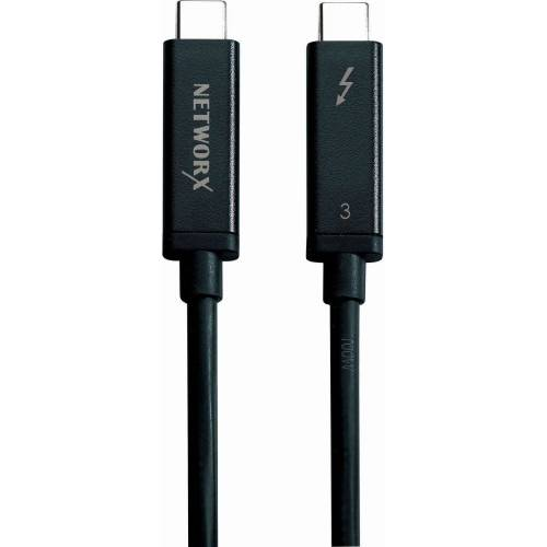 Networx Adapter »Thunderbolt 3 Aktivkabel 2 m«, Schwarz