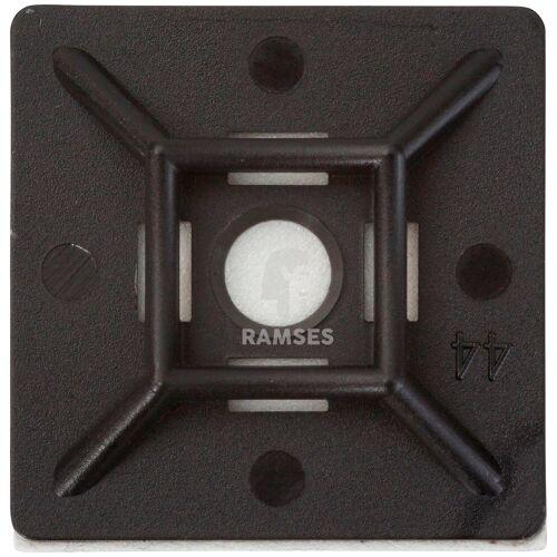 RAMSES Kabelbinder , Klebesockel 28 x 28 mm schwarz für Breite: 4,8 mm 50 Stück