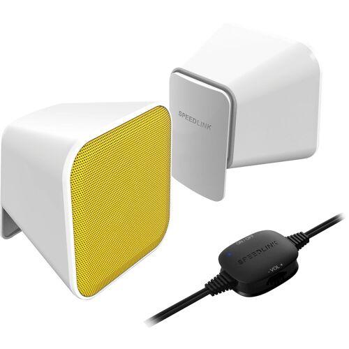 Speedlink SNAPPY Stereo Lautsprecher weiß-gelb PC-Lautsprecher