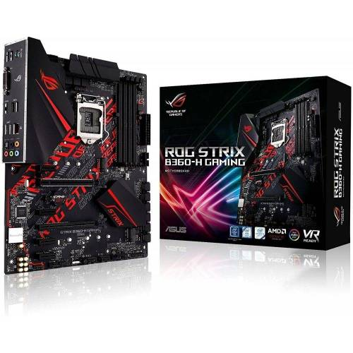 Asus »ROG Strix B360-H Gaming LGA1151 - Mainboard - schwarz« Mainboard