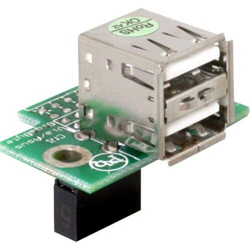 Delock »USB-Pinheader-Buchse auf 2x USB-2.0-Buchse« Adapter