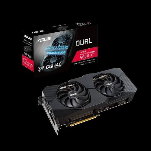 Asus DUAL RX5600XT EVO Grafikkarte (6 GB, GDDR6, Dual Fan, TOP-Edition, PCIe 4.0)