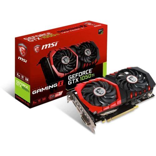 MSI GeForce® GTX 1050 Ti 4GB Gaming X 4G Grafikkarte (4 GB, GDDR5, Twin Frozr VI, Zero Frozr, Airflow Control Technology)
