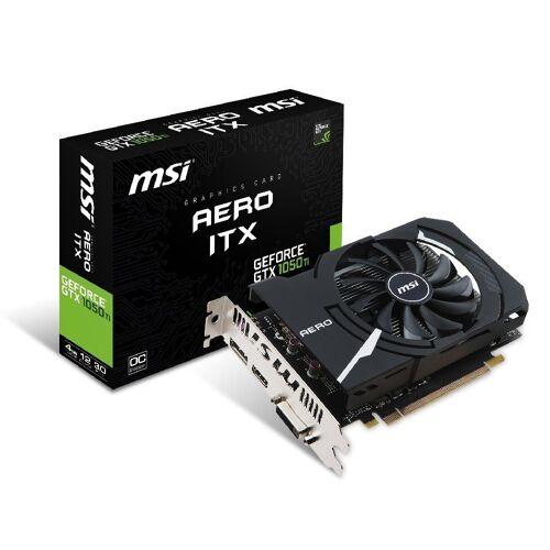 MSI GeForce® GTX 1050 Ti 4GB Aero ITX OCV1 Grafikkarte (4 GB, GDDR5)