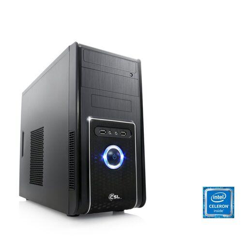CSL Office PC, Intel QuadCore, Intel HD Graphic, 4 GB RAM, WLAN »Speed T1112 Windows 10 Pro«, schwarz