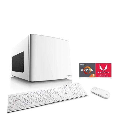 CSL Gaming Box T8511 Wasserkühlung PC (AMD Ryzen 5, Radeon Vega 11, 16 GB RAM, 2000 GB HDD, 500 GB SSD, Wasserkühlung), weiß
