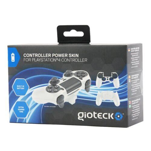Gioteck Controller-Schutzkappe »Controller Power-Skin Hard-Case Akku Hülle Shell für Sony PS4 Controller Dualshock 4« Playstation 4, integrierter Akku