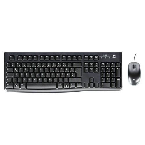 Logitech »MK 120 corded Desktop USB Keyboard +« Computer-Kabel
