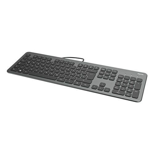 Hama »KC-700« Tastatur (Slimline mit flüsterleisen Tasten), schwarz, anthrazit