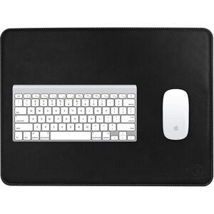 JT Berlin Schreibtischunterlage »Kreuzberg«, (450x340mm, Rutschfeste Velour-Unterseite, Tischunterlage aus echtem Rindsleder, Handarbeit] - schwarz), schwarz