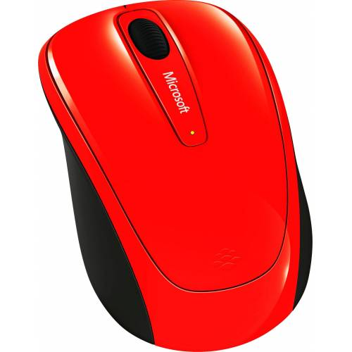 Microsoft »Wireless Mobile Mouse 3500 Flame Red« Maus (RF Wireless)