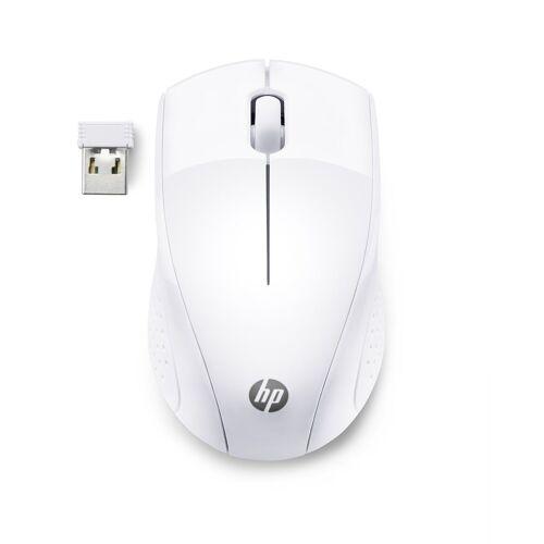 HP Wireless Mouse 220 »Beidhändig bedienbare Wireless Travel-Maus«, weiß