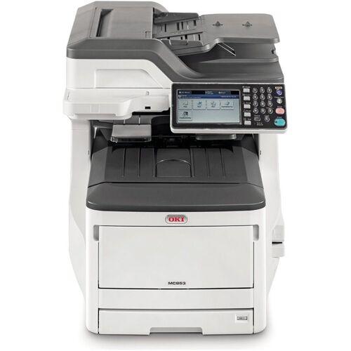 Oki MC853dn - Multifunktionsdrucker - weiß/grau Laserdrucker