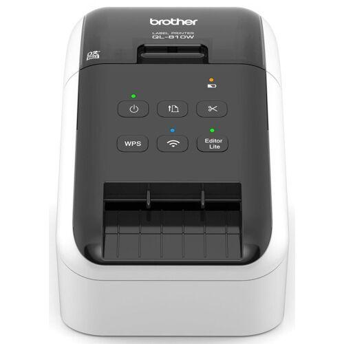 Brother Etikettendrucker »QL-810W Etikettendrucker (mit WLAN)«, Schwarz-Weiß