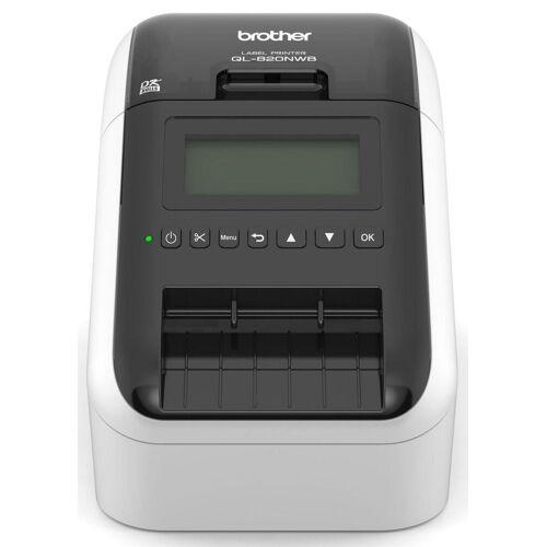 Brother Etikettendrucker »QL-820NWB Etikettendrucker LAN/WLAN/Bluetooth«, Schwarz-Weiß