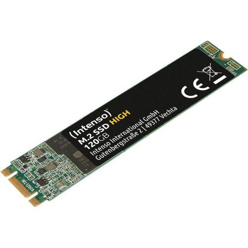 Intenso »M.2 SSD High« SSD-Festplatte (120 GB) 520 MB/S Lesegeschwindigkeit, 480 MB/S Schreibgeschwindigkeit)