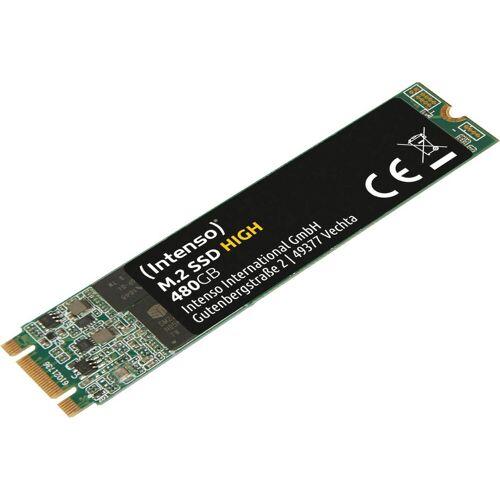 Intenso »M.2 SSD High« SSD-Festplatte (480 GB) 520 MB/S Lesegeschwindigkeit, 480 MB/S Schreibgeschwindigkeit)