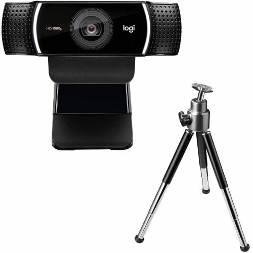 Logitech »HD C922 Pro Stream Webcam, 1080p Kamera Streaming Webcam mit Stativ« Full HD-Webcam