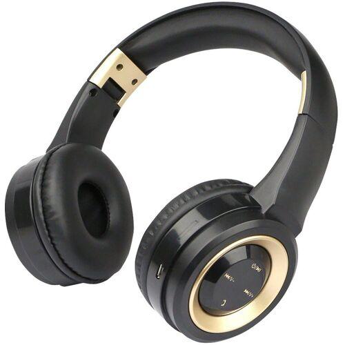 fontastic Headset »Bluetooth On-Ear Kopfhörer Boom«, Gold-Schwarz