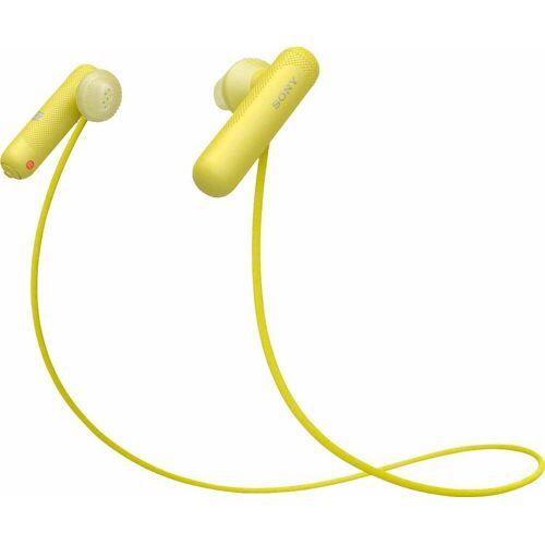 Sony »WI-SP500« Sport-Kopfhörer (IPX4 wasserfest, bis zu 8 Stunden Akkulaufzeit), gelb