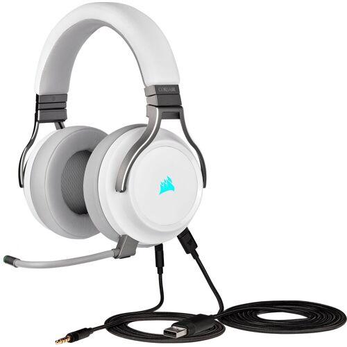 Corsair PC-Headset (LED für Kopplungsstatus, LED für Mikrofonstatus), weiß
