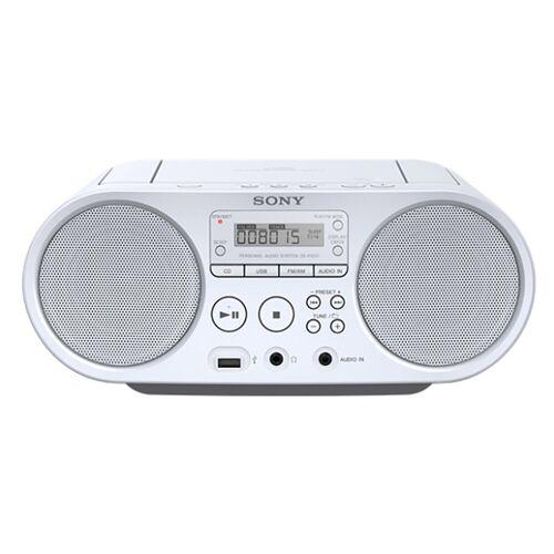 Sony »ZS-PS50« Boombox (AM-Tuner, FM-Tuner, 4 W, CD-Laufwerk, Front-USB, MP-3), weiß