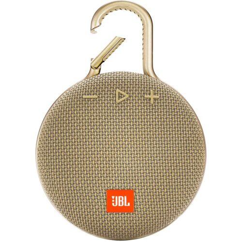 JBL CLIP 3 Portable-Lautsprecher (Bluetooth, 3 W), beige