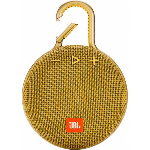 JBL CLIP 3 Portable-Lautsprecher (Bluetooth, 3 W), gelb