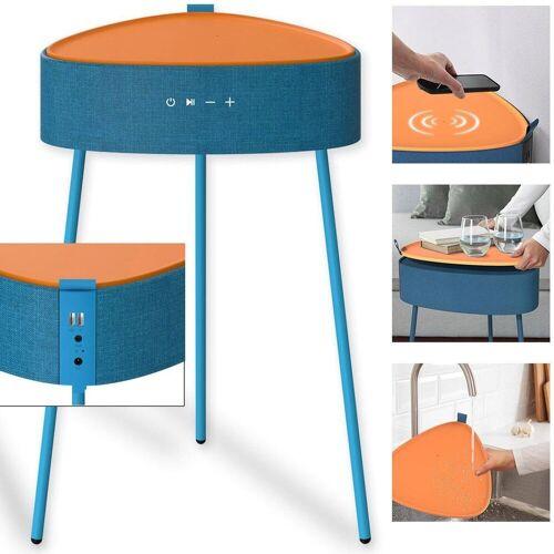 fontastic Mesu Drahtloser Lautsprecher-Tisch Bluetooth-Lautsprecher, blau